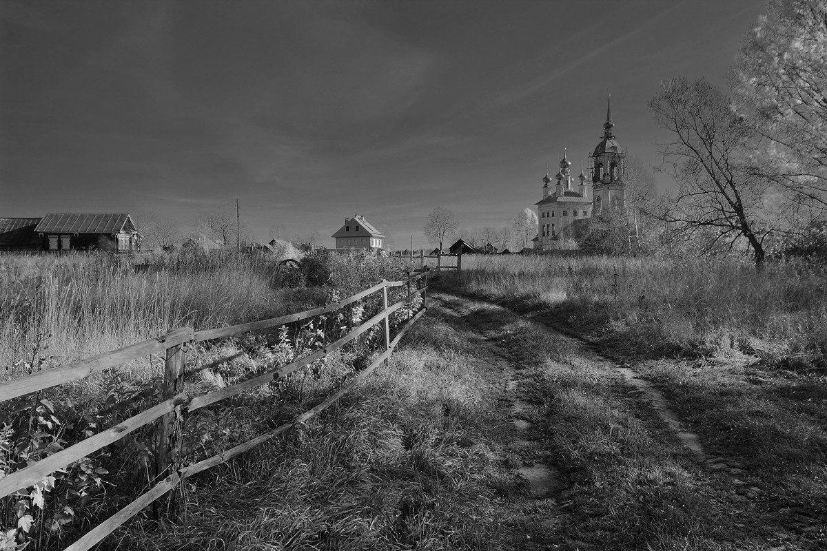 Деревня, Пейзаж, Храм, Олег Зкл