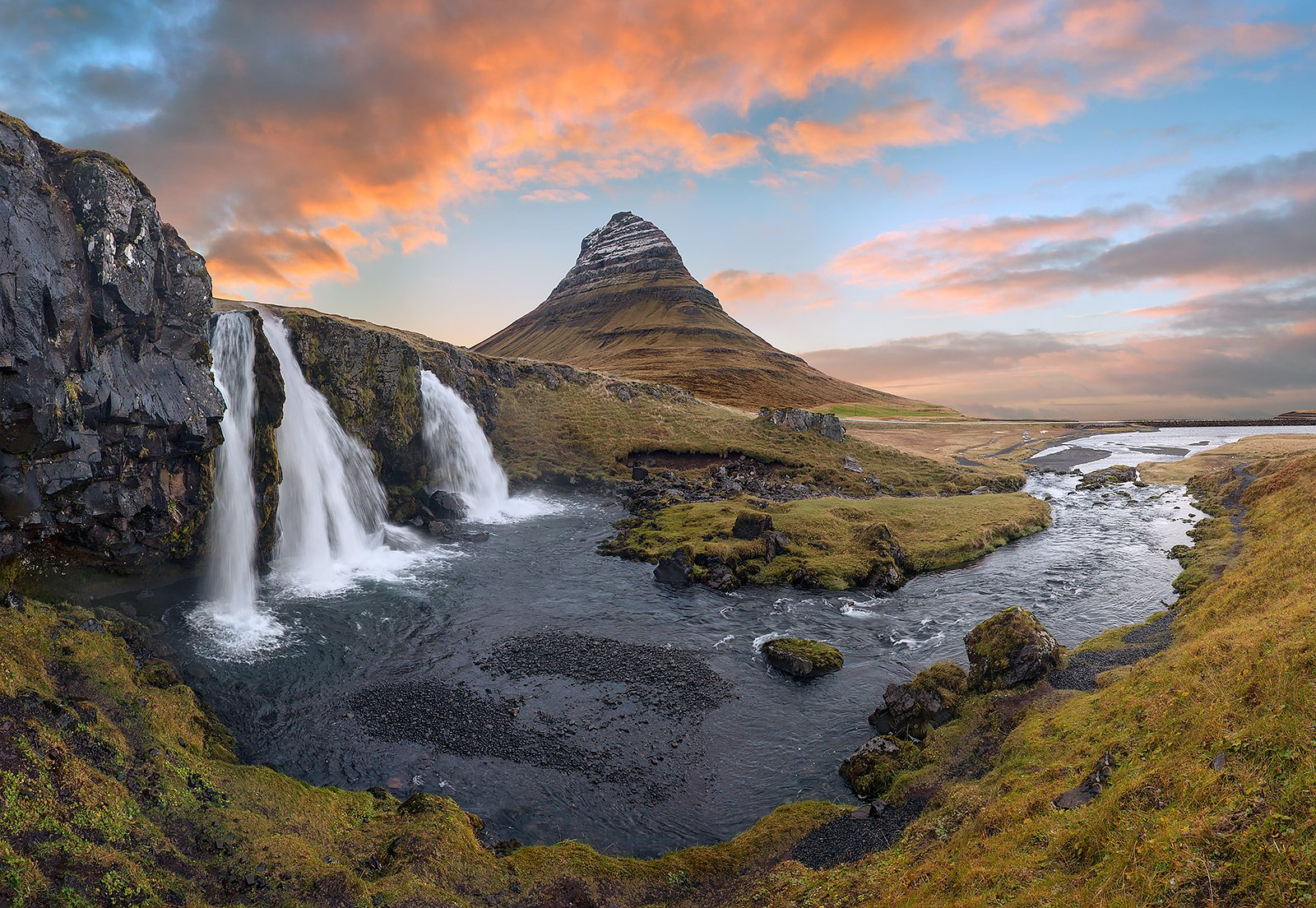 iceland, водопады, исландия, рассвет, Sergey Aleshchenko