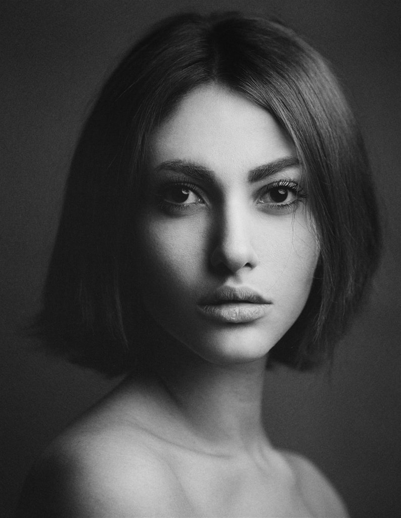Beauty, BW, Girl, Portrait, Babak Fatholahi