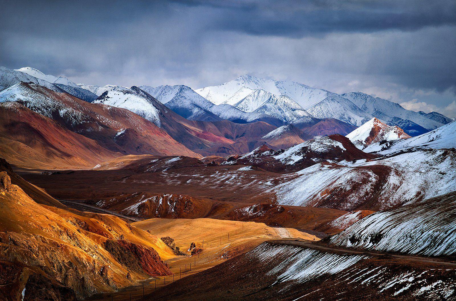 горы, памир, таджикистан, средняя азия, перевал, снег, Бирюков Юрий