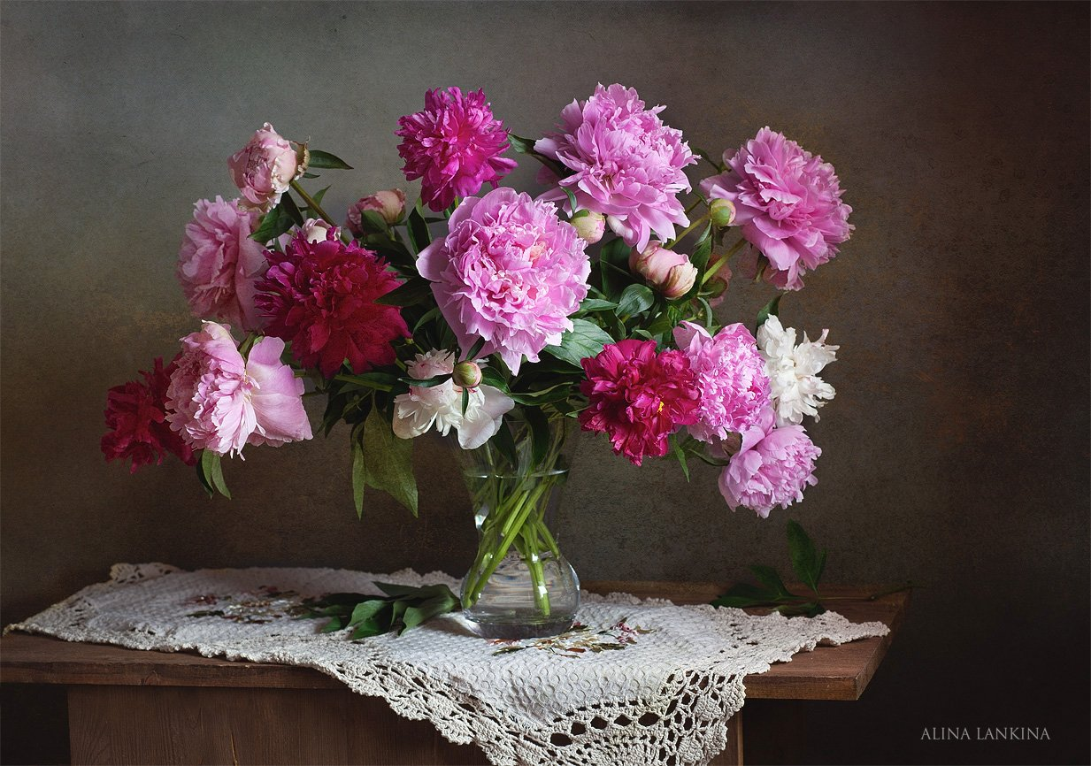 натюрморт, пионы, цветы, лето, букет, фотонатюрморт, Alina Lankina