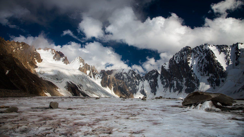 киргизия, горы, ледник, лето, Vitaliy Rage