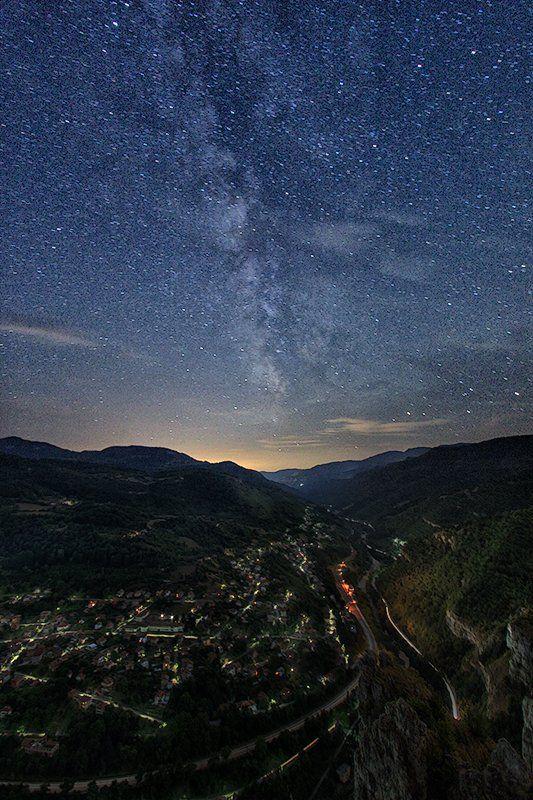 лакатник, млечный путь, ночной пейзаж, ночь, стара планина, Ирина Костова
