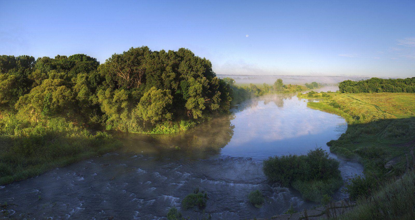 пейзаж, природа, лето, река, рассвет, утро, россия, туман, Ефимов Александр