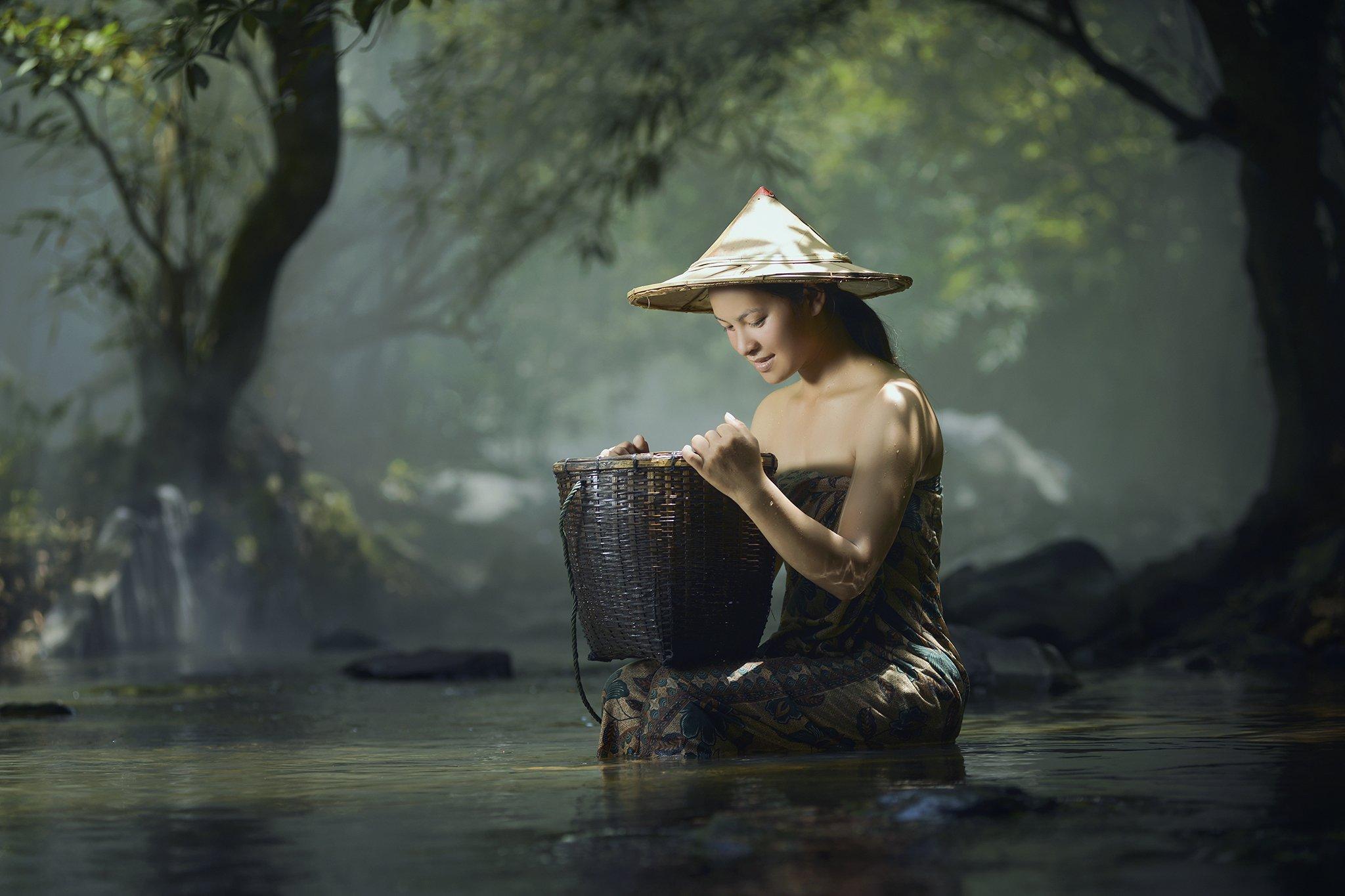 Asia, Asian, Beautiful, Beauty, Culture, Cute, Girl, Light, Photo, Photography, Portrait, River, Thai, Thailand, Woman, Saravut Whanset