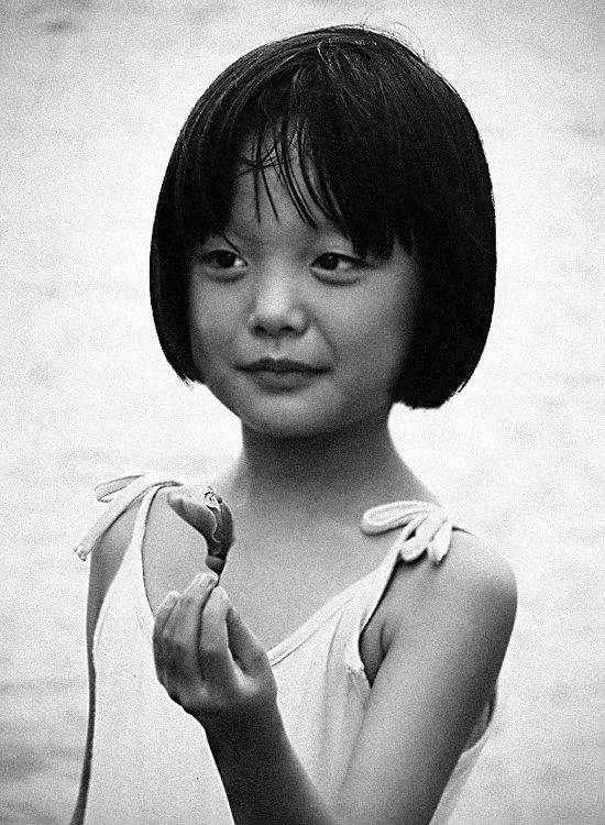 девочка, лето, взгляд, цветок, китай, Olga Panteleeva