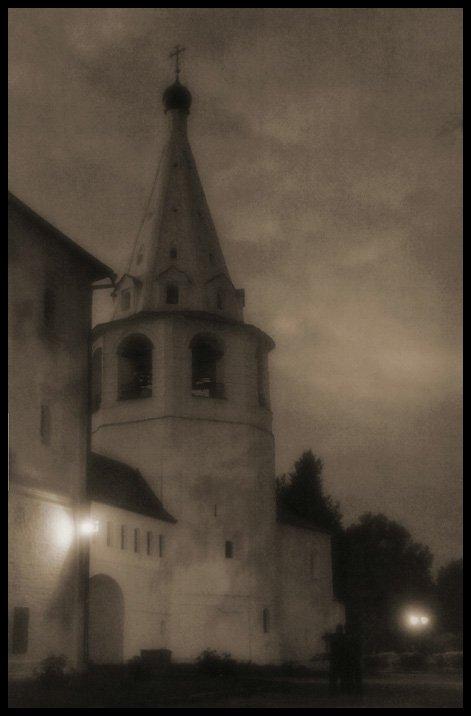 ночь, суздаль, стилизация, ретро, Александр Абалихин