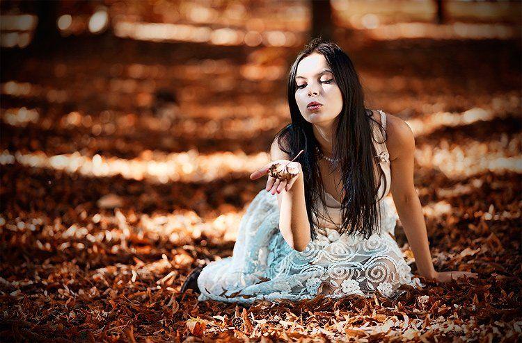 настя, портрет, девушки, природа, BezOdezhdi