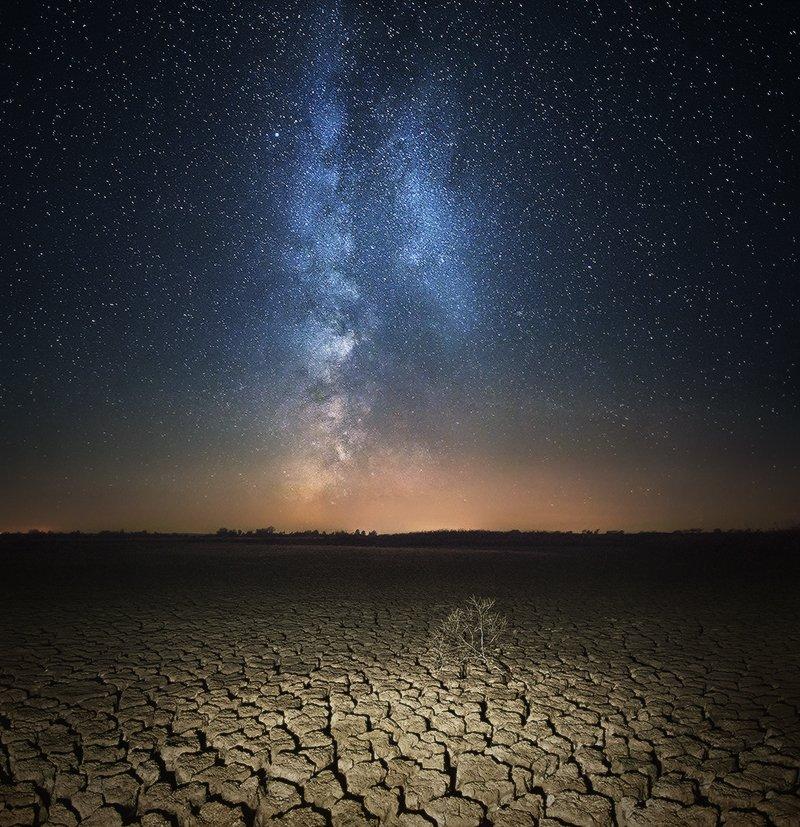Galaxy, Landscape, Milky way, Денис Кривой