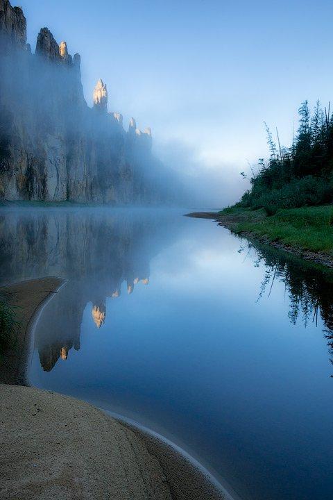 Река Синяя, Синские столбы, Якутия, Алексей Харитонов