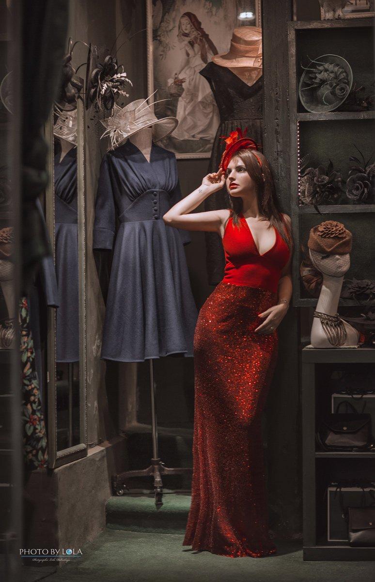 шанхай, девушка, красавица, шляпки, магазин, ретро, Лола Пидлуская