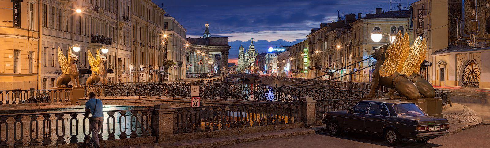 2009, Банковский, Белые ночи, Мост, Панорама, Санкт-петербург, Sergey Louks
