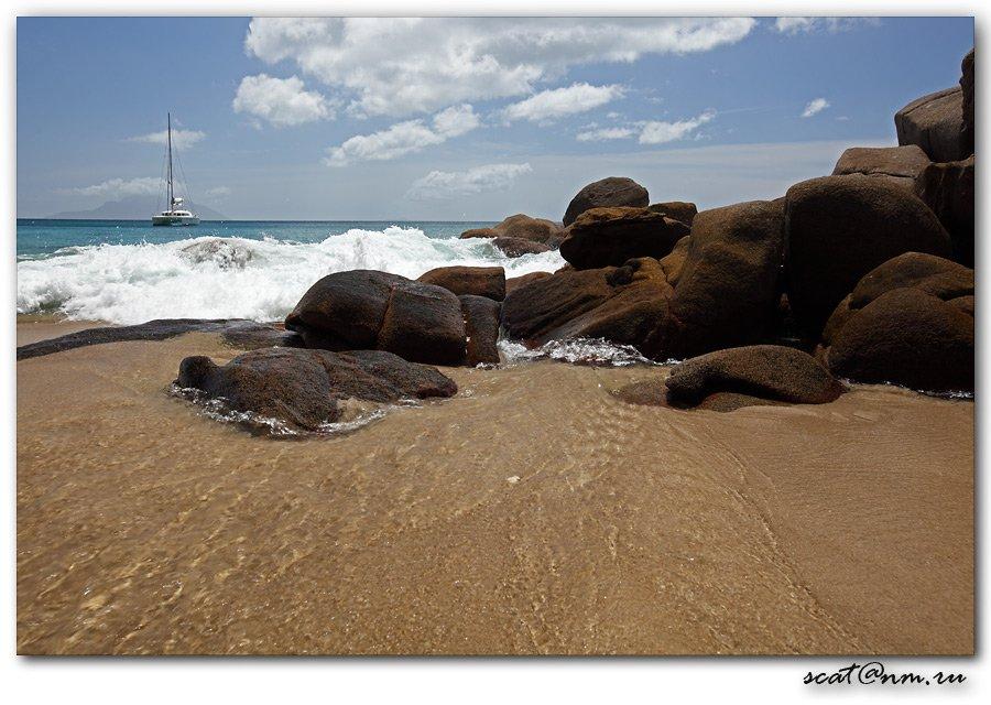 seychelles, anse, stones, catamaran, Андрей (SCAT)