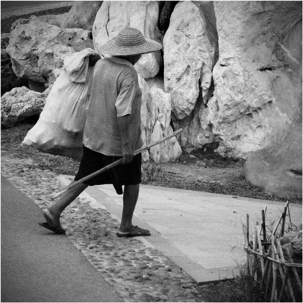человек, отшельник, дорога, в поисках истины, китай, Olga Panteleeva