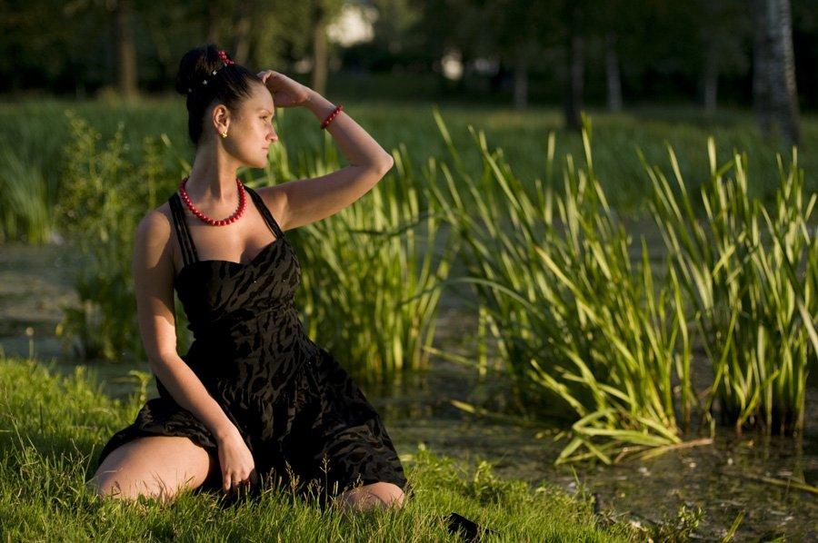 закат,девушка,свет,тень,природа,зелень,зелень,, Евгений Пугачев.