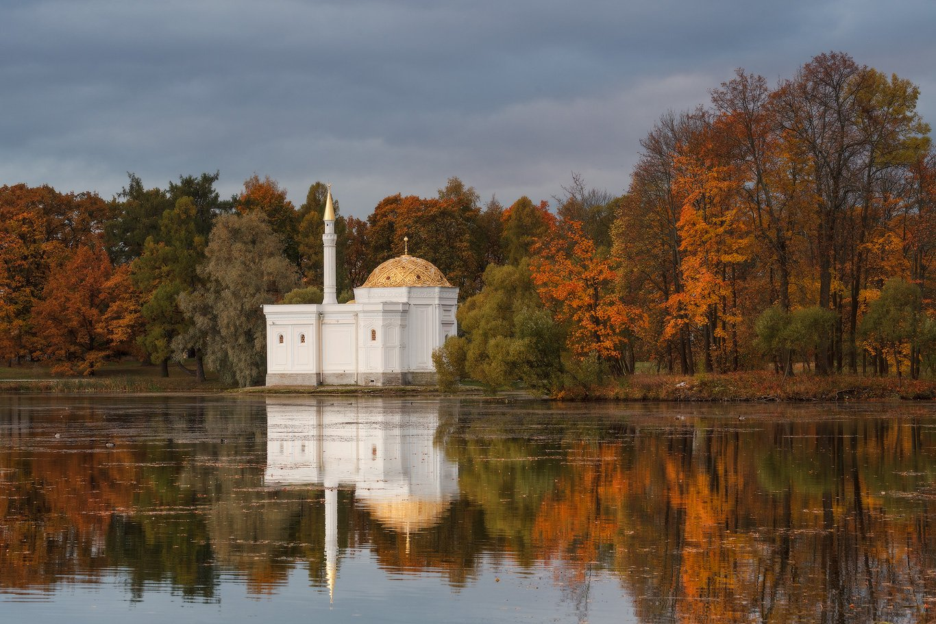 пушкин, царское, село, парк, александровский, осень, россия, Илья Штром