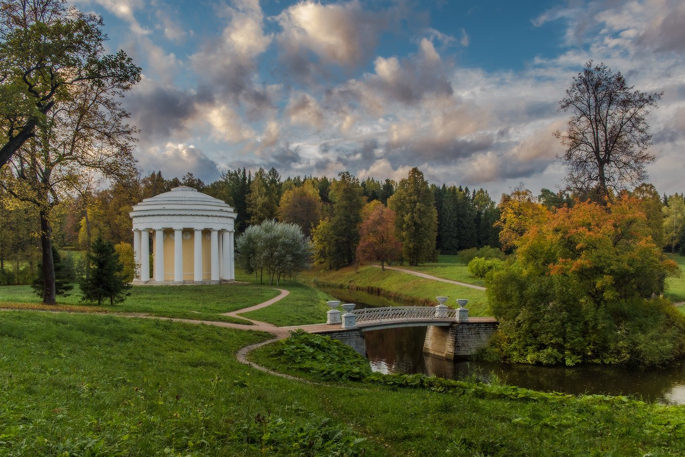 Осень, Павловск, Павловский, Парк, Россия, Храм дружбы, Илья Штром