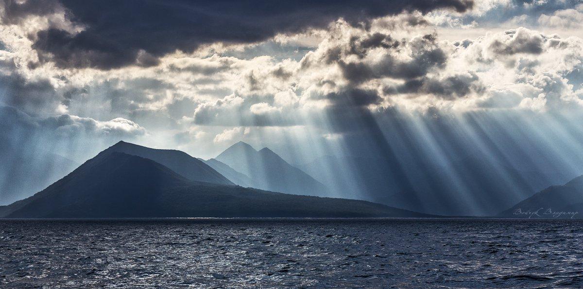 Горы, Камчатка, Облака, Тихий океан, Войчук Владимир