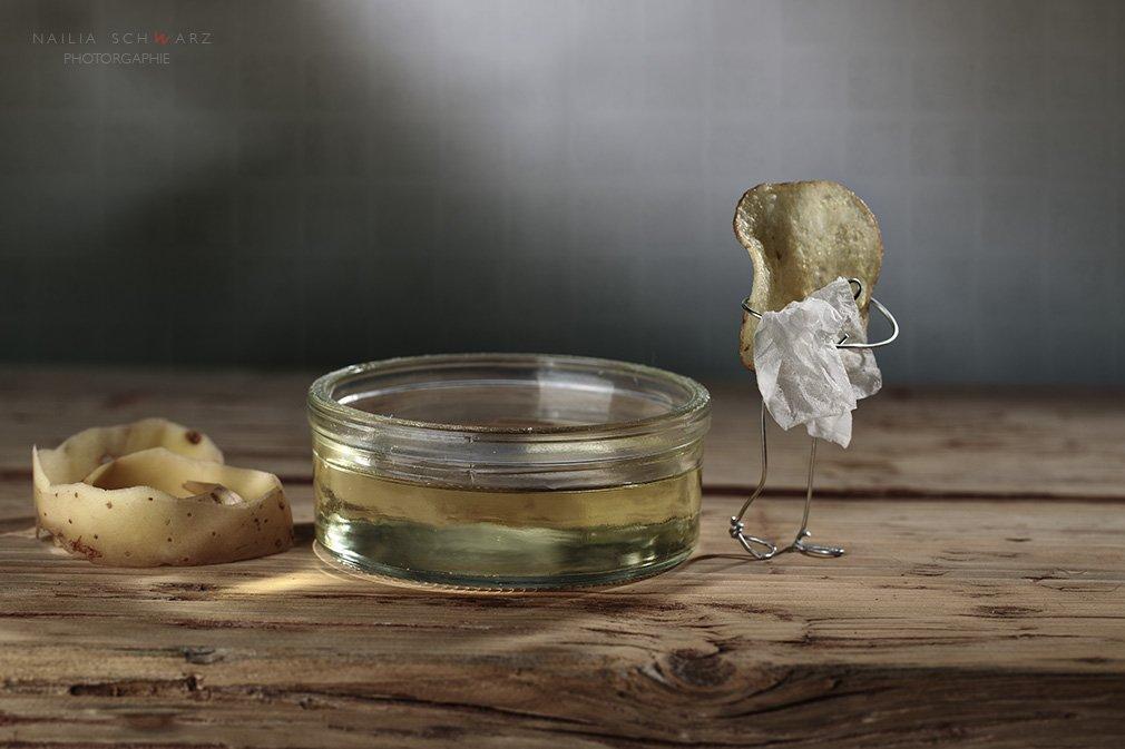 масло фритюр картофель чипс сценка  юмор жареный хрустящий ванная , Nailia