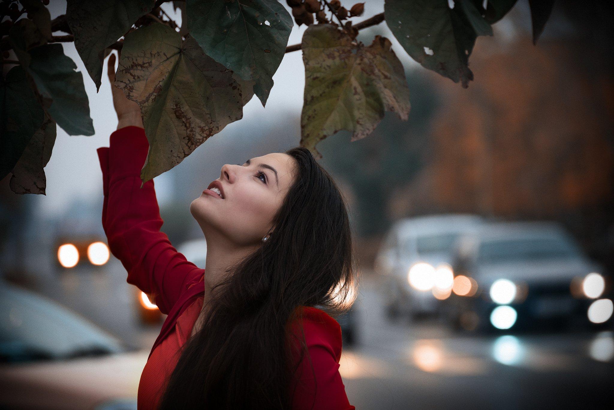 Portrait, beauty, street, lights, Милен Добрев