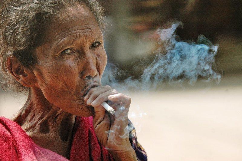 курить, женщина, сигарета, Kochergin Valery