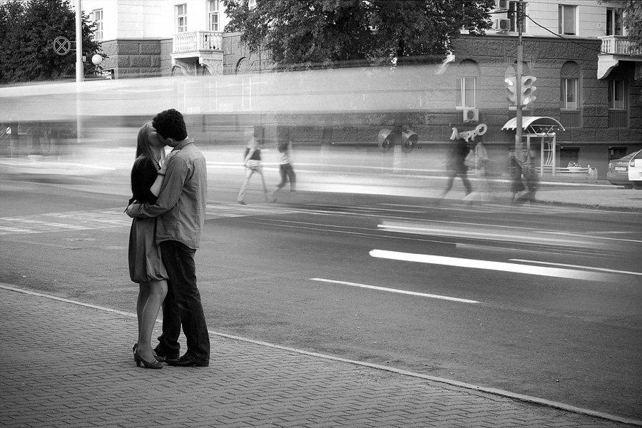 поцелуй, скорость, город, осень, faniz, fanizzz