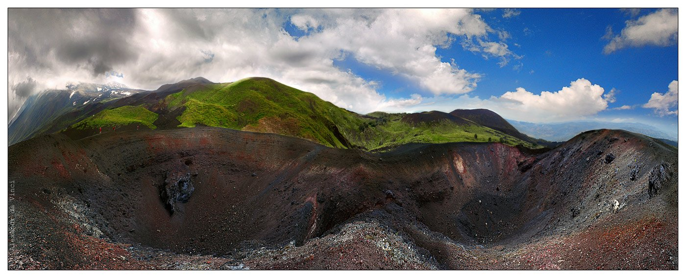 вулкан, этна, сицилия,  кратеры, панорама, вулканы, италия, Alexandr da Vinci