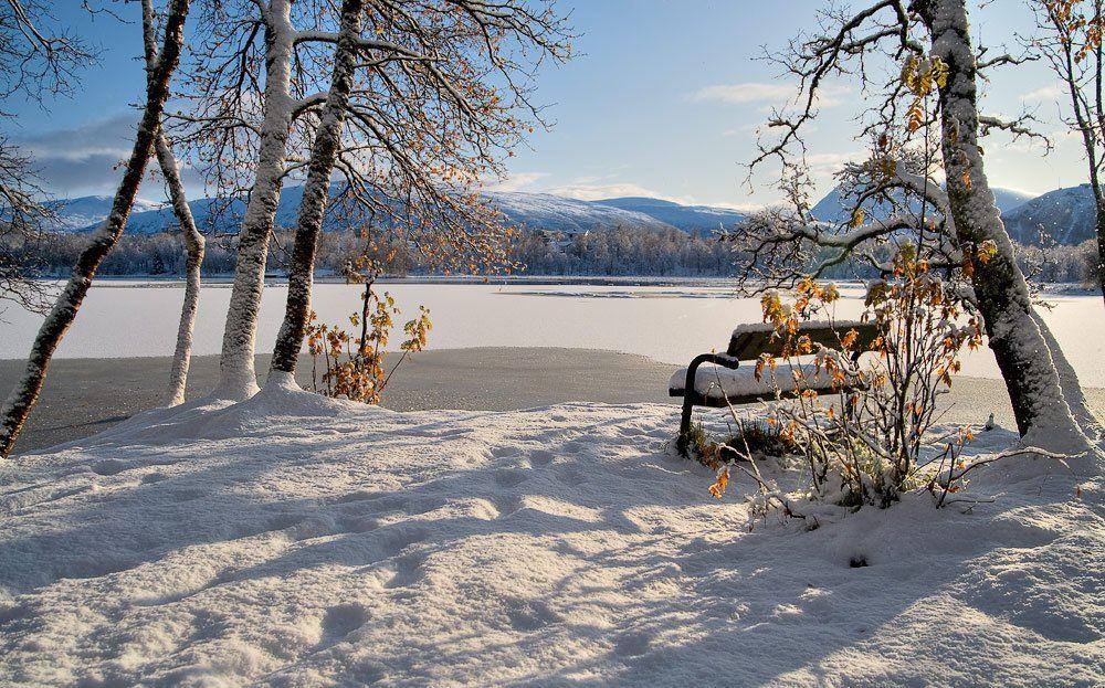 норвегия, озеро, norway,снег,зима, skurk