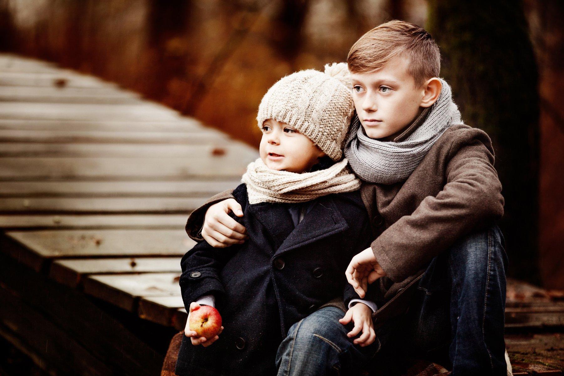 портрет,дети,осень, Мария Монастырная