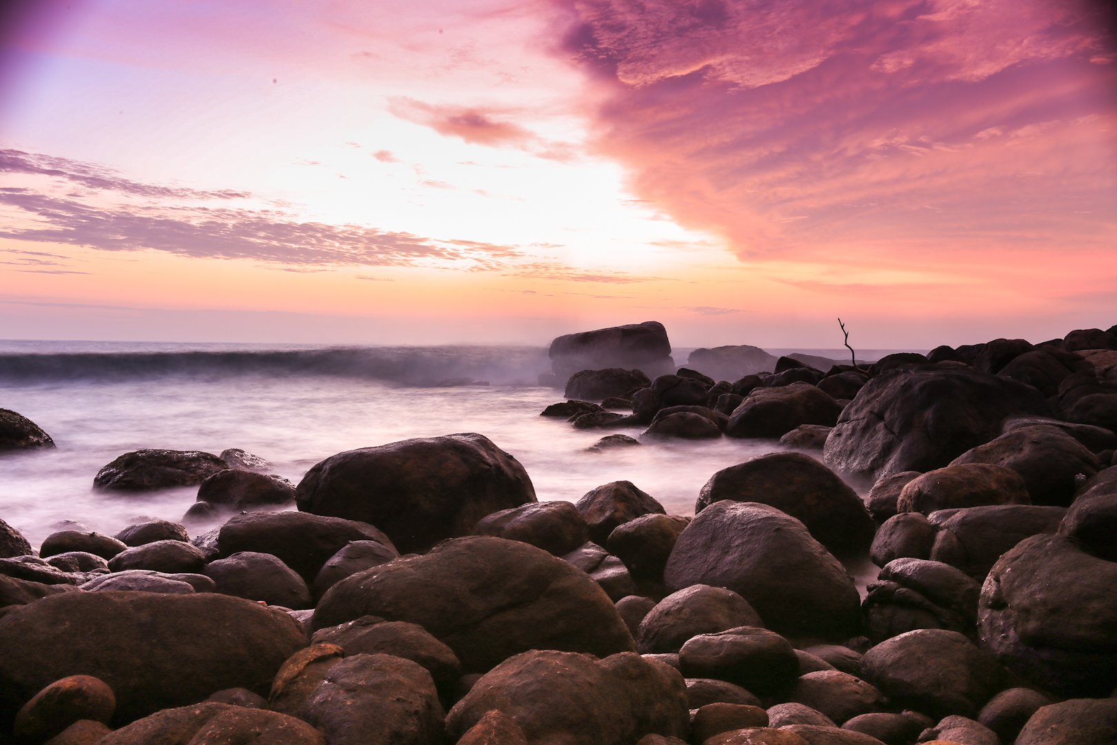 beach beautiful beauty blue clouds coast light ocean sand sea seascape sky summer sun sunrise sunset travel water waves, Andreea Chiru
