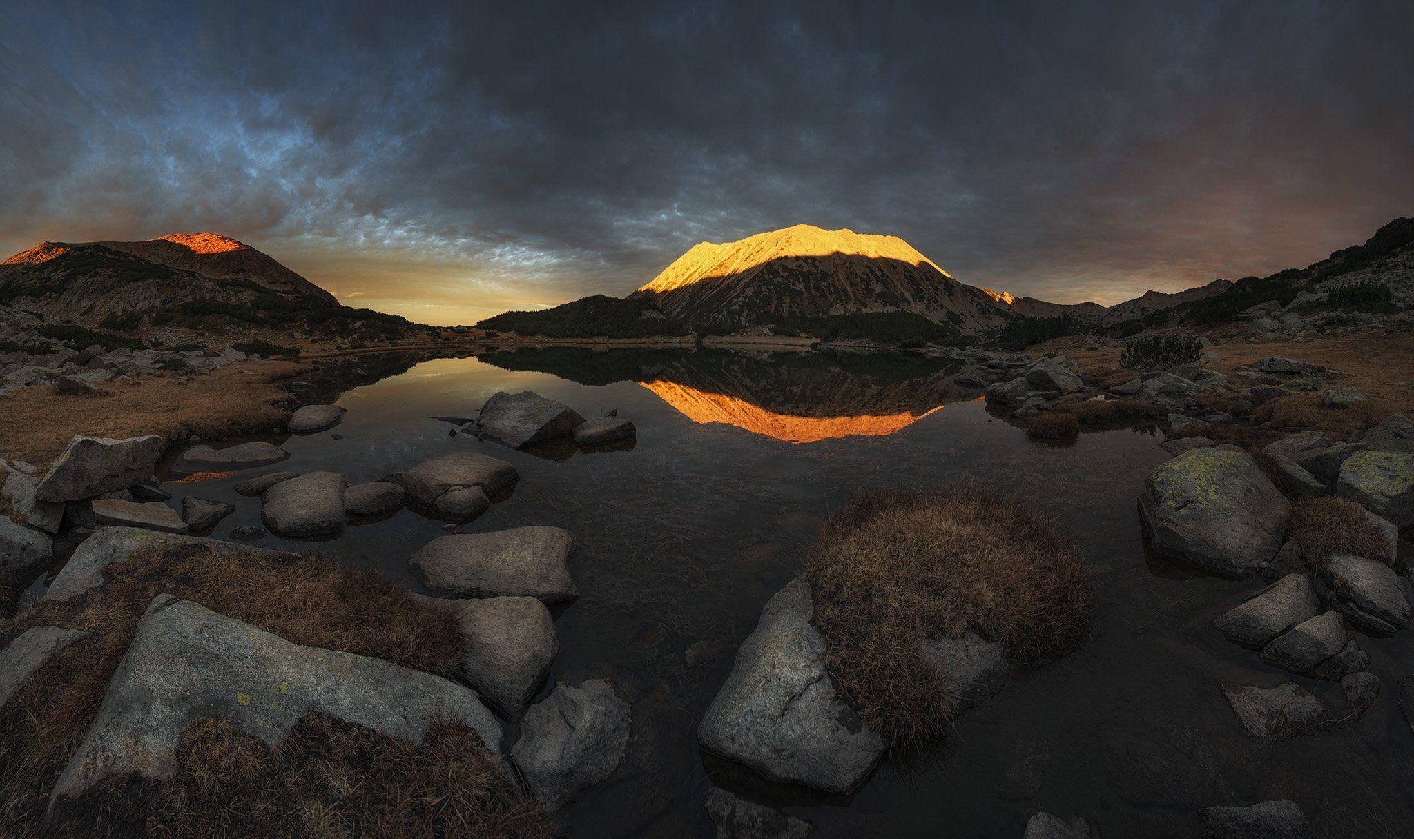 болгария, горы, закат, Краси Матаров