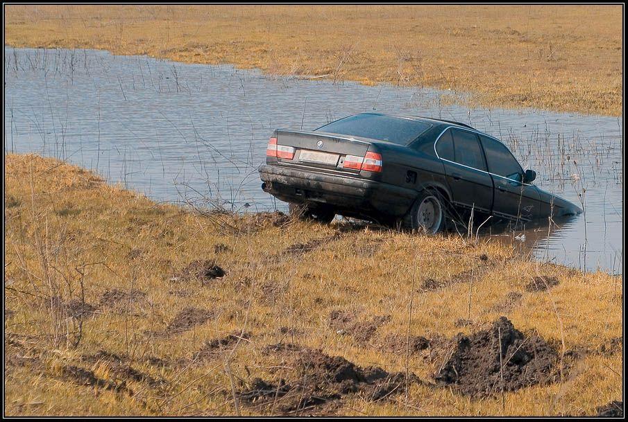 весна, вода, автомобиль, wofa