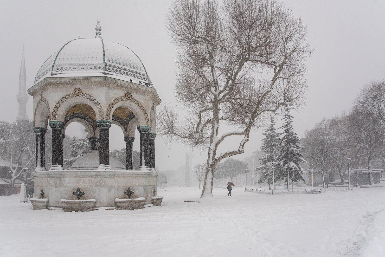 istanbul,turkey,old city,Deutsch Fountain,winter, mustafa yagci