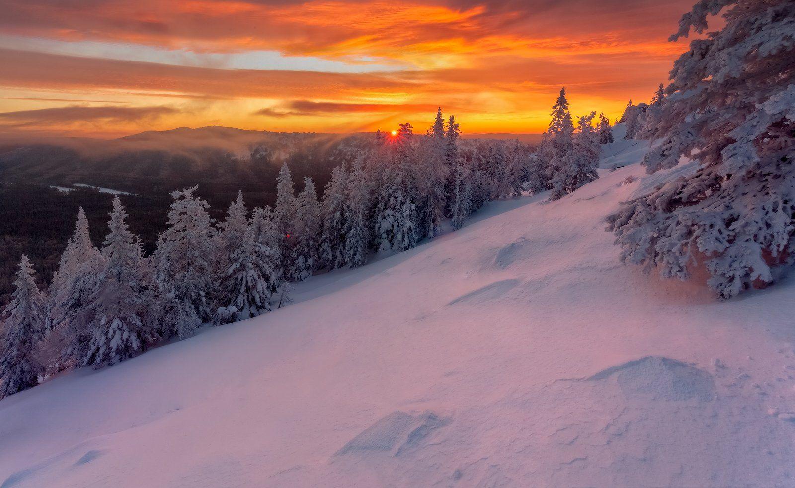 таганай, рассвет, зима, златоуст, урал,  t_berg, Михаил Трахтенберг ( t_berg )