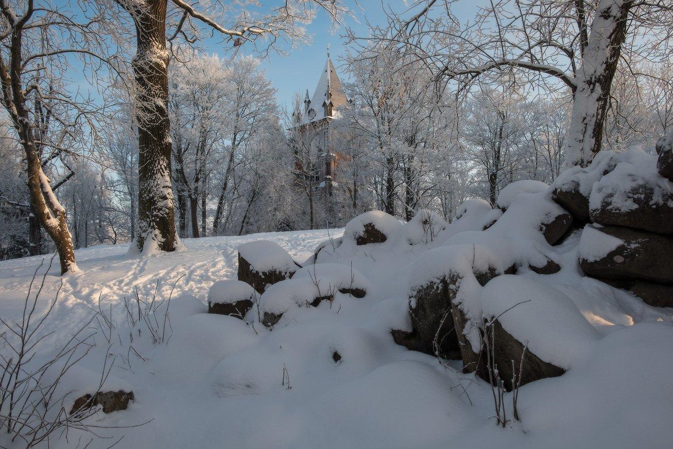 александровский, зима, парк, пушкин, россия, село, снег, царское, царское село, шапель, Илья Штром