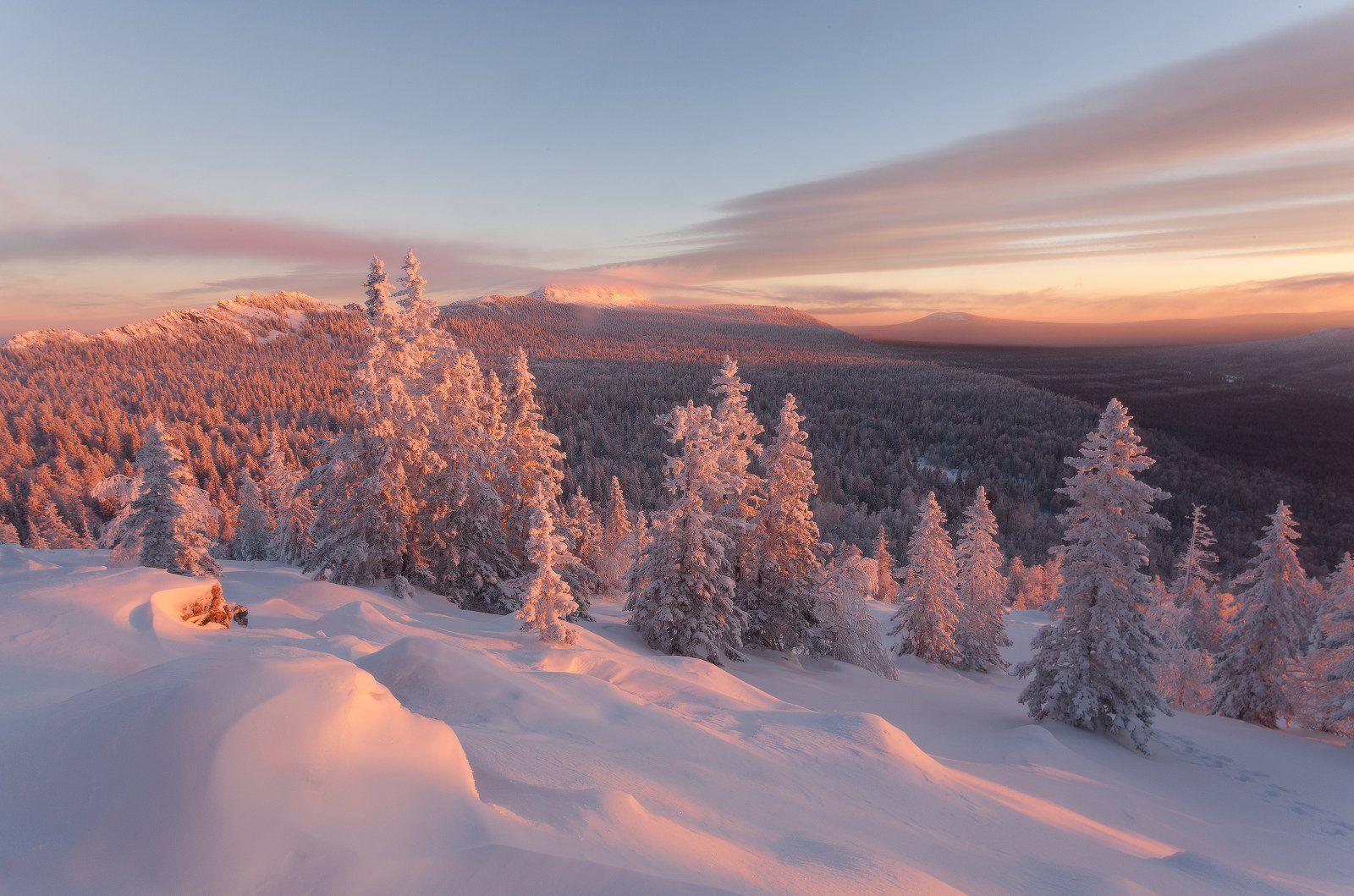 урал, зима, златоуст, таганай, рассвет, горы, t_berg, Михаил Трахтенберг ( t_berg )