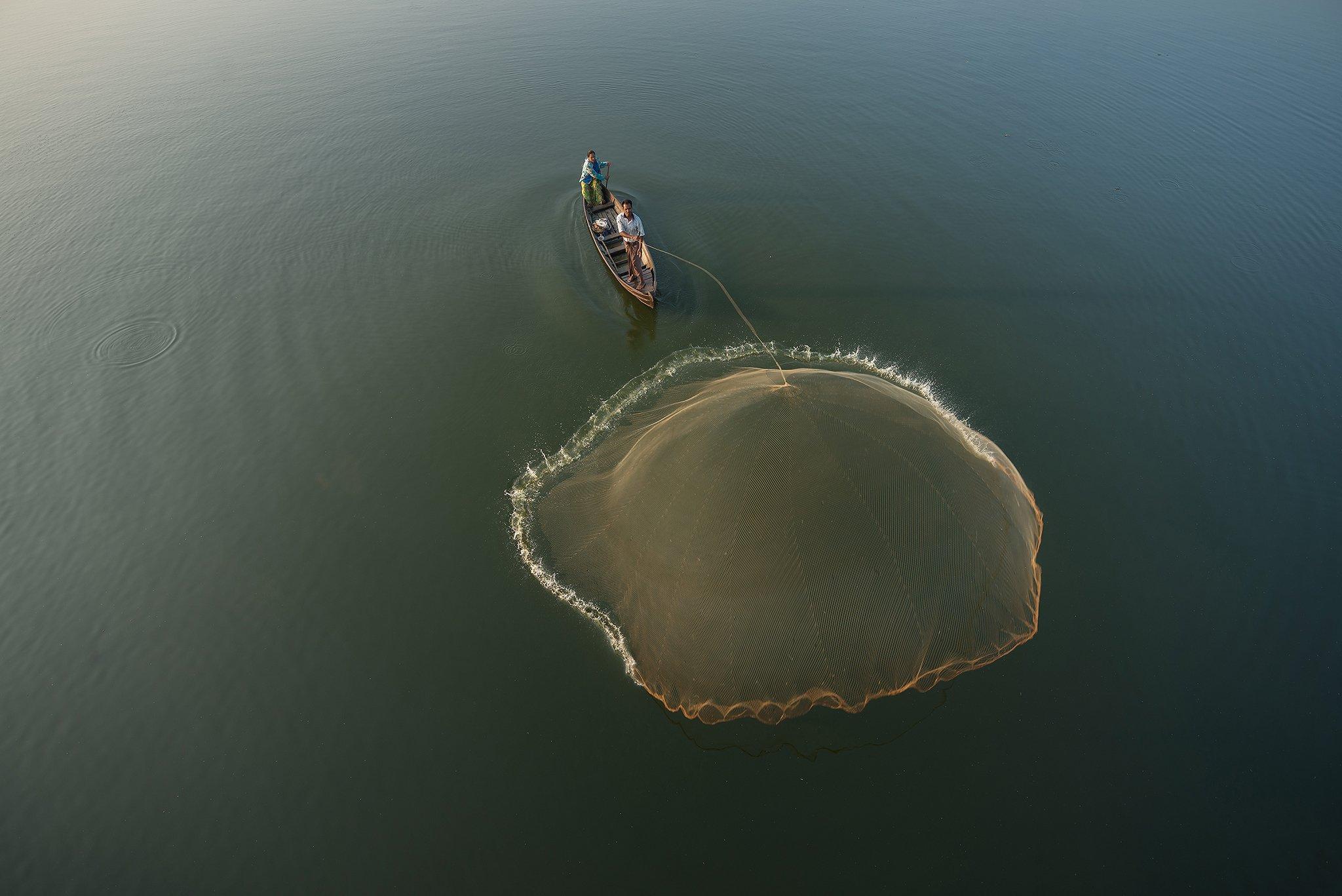 Fisherman, Amarapura, Mandalay, Burma, Myanmar, sarawut intarob