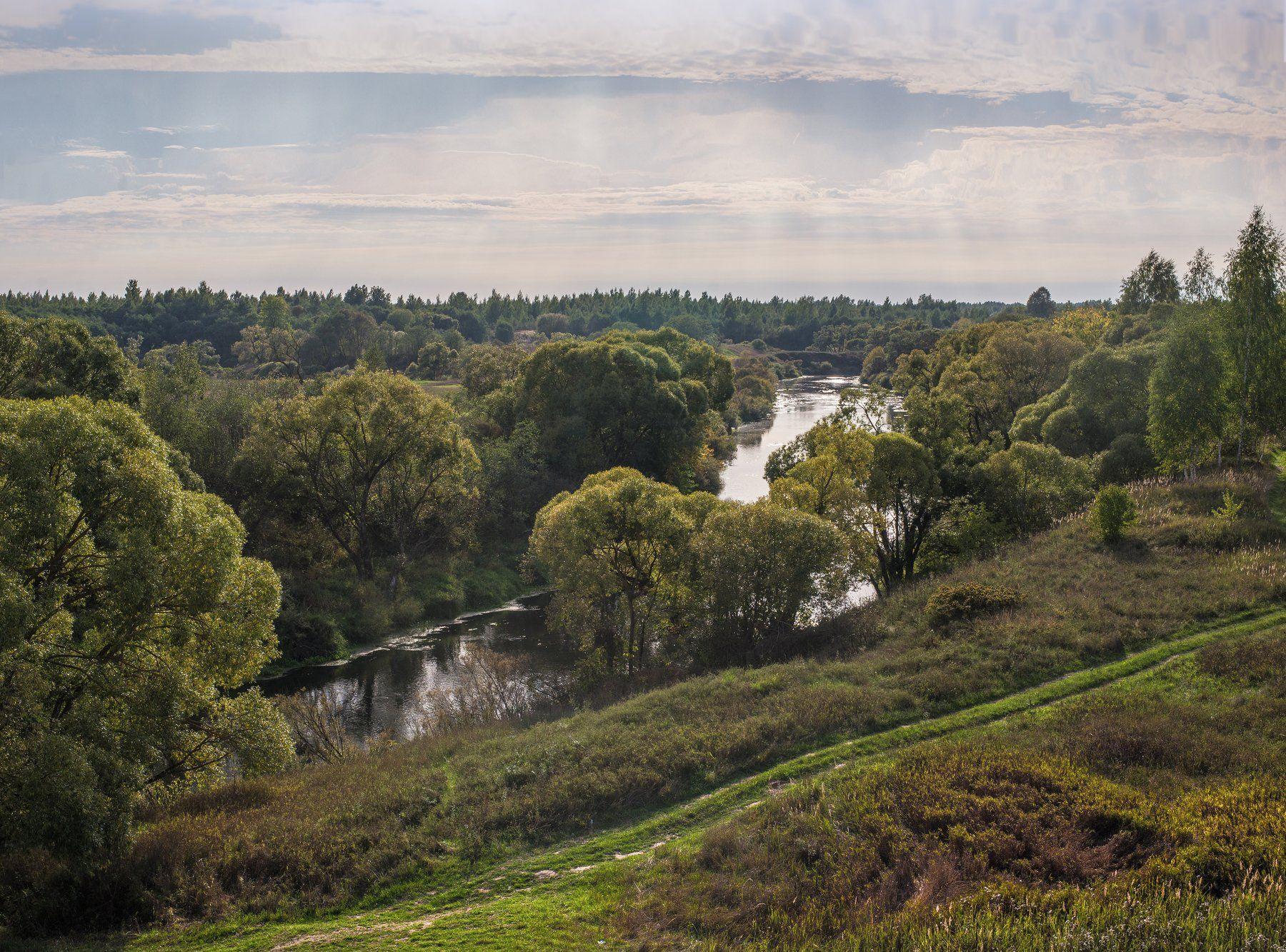 времена года, небо, осень, пейзаж, река каспля, россия, сентябрь, смоленская область, Лидия Киприч