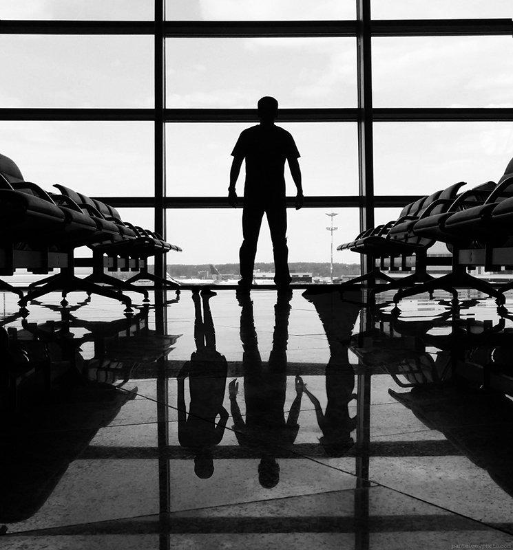 airoport, black and white, concept, conseptual, women, Пантелеев Алексей
