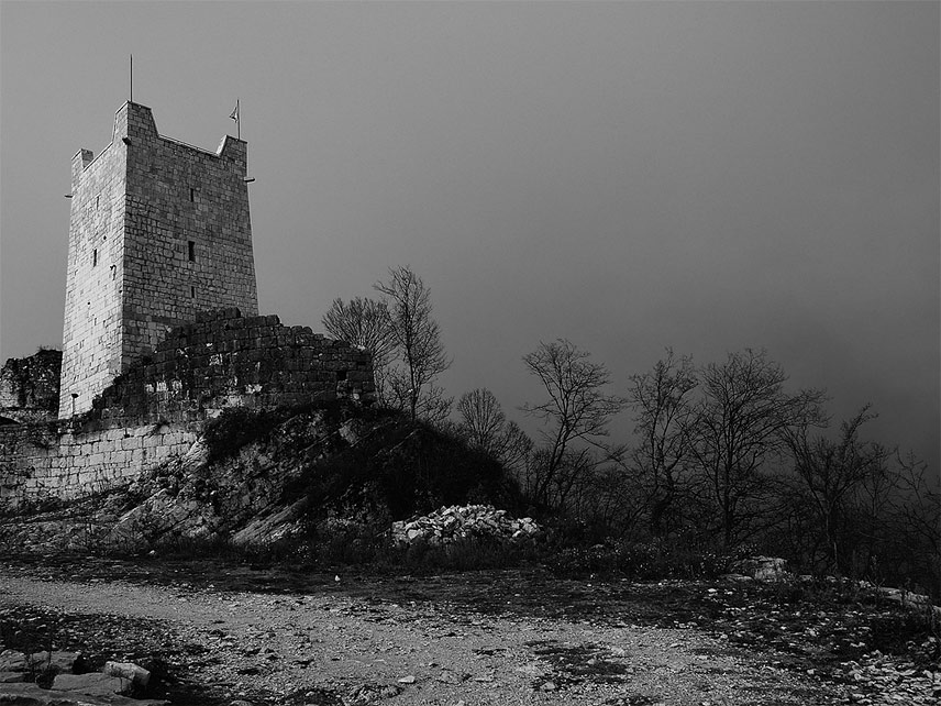 абхазия, анакопийская крепость,иверская,гора,туман, Toska