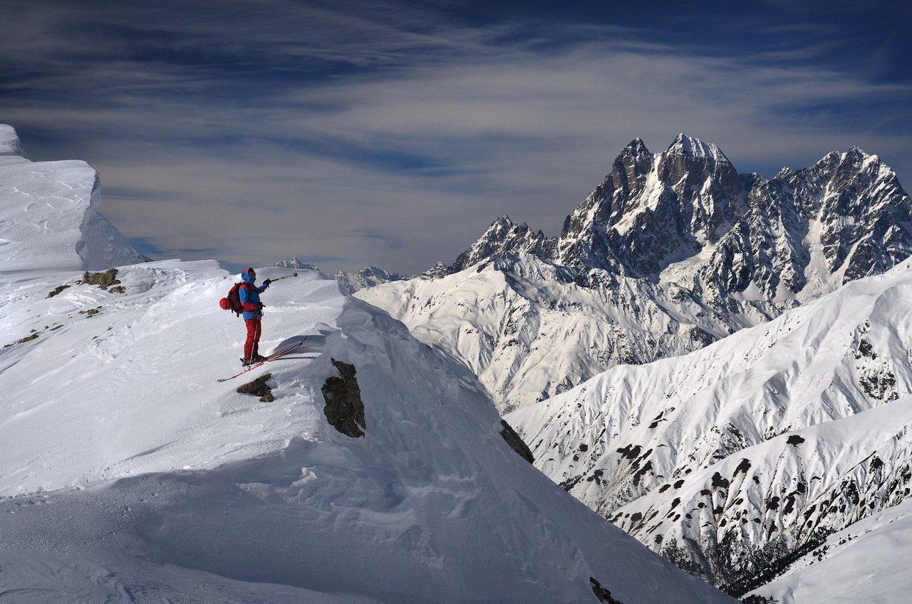 горы, горные лыжи, Кавказ, Ушба, Сванетия, sshestov