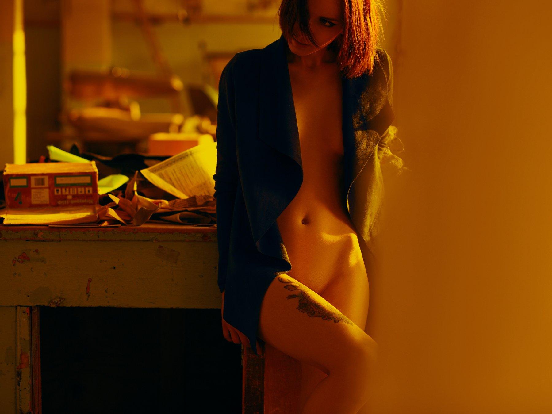 ню,девушка,желтый,оранжевый,2016, Николая Заподобников