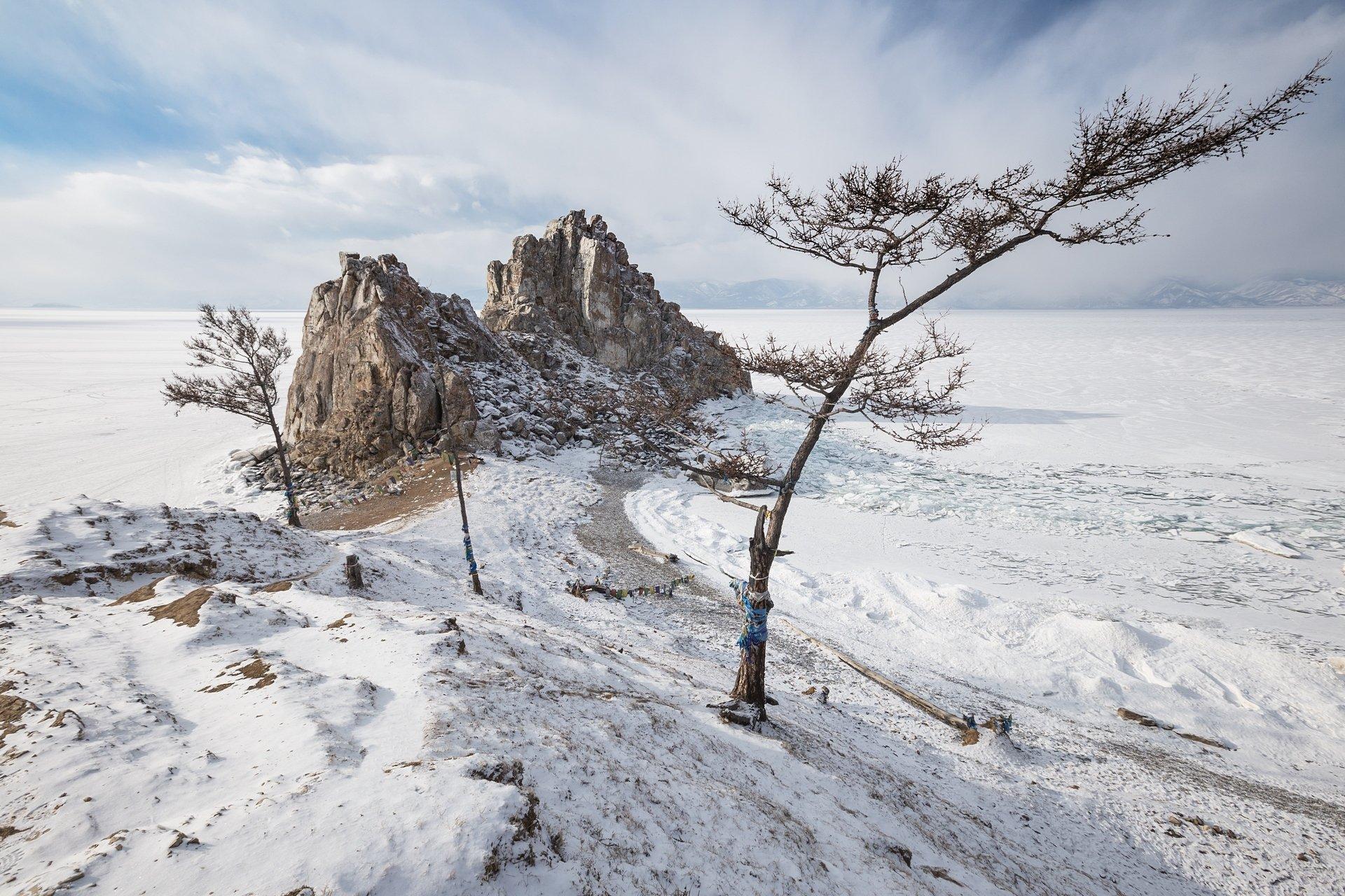 Бурхан, Шаманка, лед,Байкал, Малое Море, Виктор Зайцев
