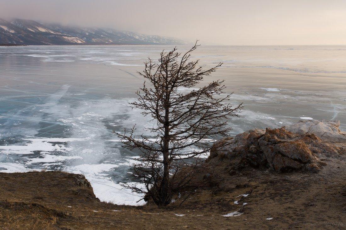 байкал, закат, природа, красивый, пейзаж, иркутск, сибирь, лед, скалы, малое море, огой, уюга, ольтрек, Александр Нерозя