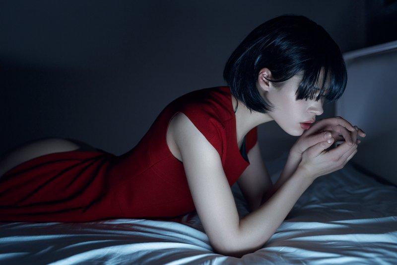 girl, nude, sexy, erotic,red, blue, beautiful, Корнеев Виктор