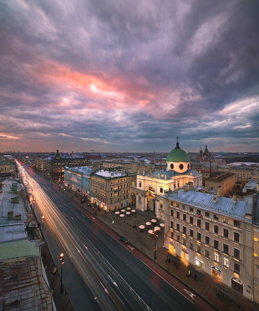 Башня, Вечер, Думская, Закат, Невский проспект, Санкт петербург, Sergey Louks