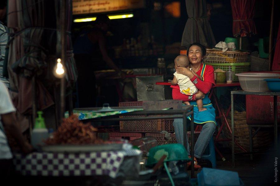 тайланд, рынок, ребенок, семья, азия, Kochergin Valery