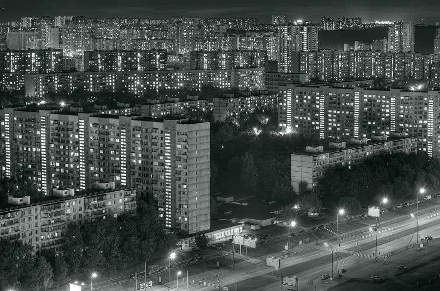 крыша, крыши, город, москва, ночь, тропарёво, Kremchik