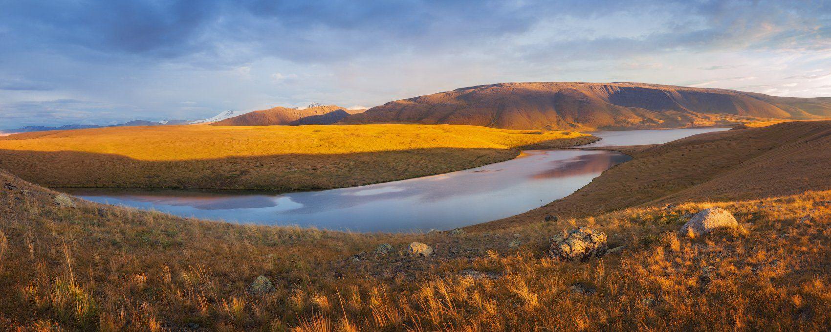 алтай, закат, лето, озеро, укок, Андрей Уляшев (Mercand)