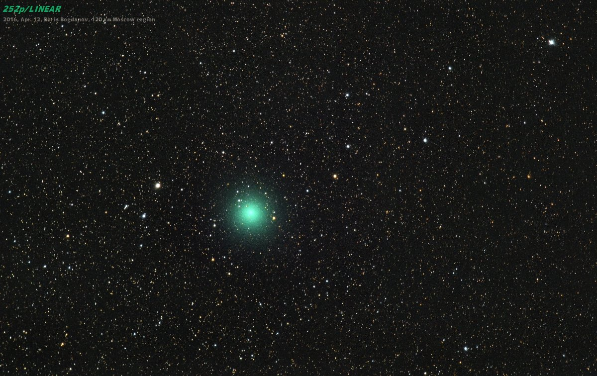 2016, 252p linear, апрель, комета, космос, Борис Богданов